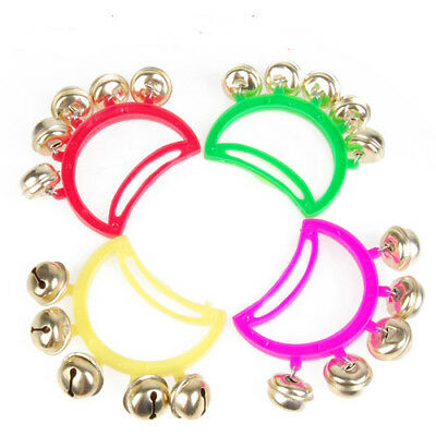 1pc Music Percussion Hand Held Drum Tambourine 5 Jingle Bells Random Color