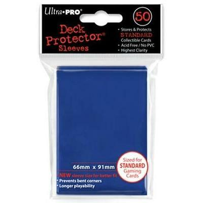 50 Count D Blue Ultra Pro Deck Protector Card Sleeves Storage Pokemon MTG Sports