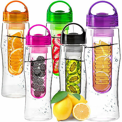 New 800Ml Fruit Infusion Infusing Infuset Water Bottle Sports Health Maker Drink