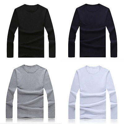 Winter New Men's Slim Fit Long Sleeve Shirt T-shirts Tee Shirt Tops