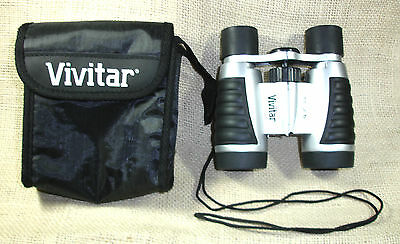 Vivitar Binoculars 4 X 30 With Case Cleaning Cloth Used With Case Carrying Strap
