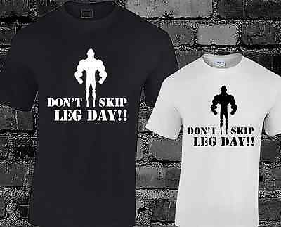 Dont Skip Leg Day Mens T Shirt Funny Slogan Gym Workout Exercise Weightlifting