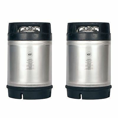 Homebrew Kegs - 2 Pack New 2.5 Gallon Ball Lock Kegs w/Relief Valve - SHIPS FREE