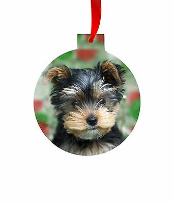 Yorskhire Terrier, Yorkie ORNAMENT CHRISTMAS TREE Dog PUPPY ART
