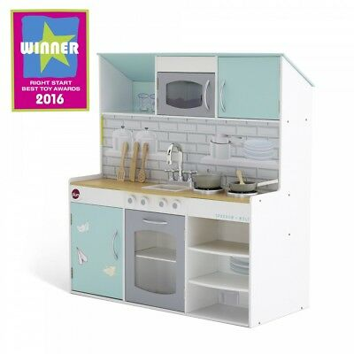 NEW Plum Wooden 2 in 1 Peppermint Townhouse Kitchen Indoor Role Pretend Play Toy