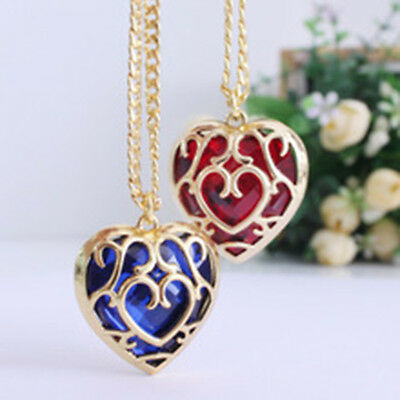 2pcs The Legend of Zelda Skyward Sword Heart Container Metal necklace