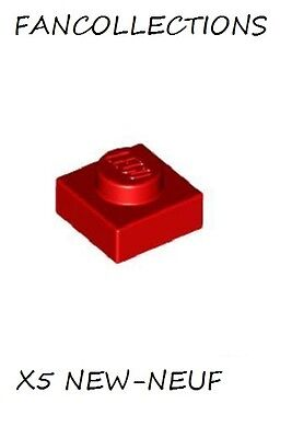 4x Plate Modified 1x1 rouge transparent trans red 3024 NEUF Lego