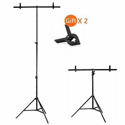 Photography 80*200cm PVC Backdrop Background Support Crossbar Stand System Metal