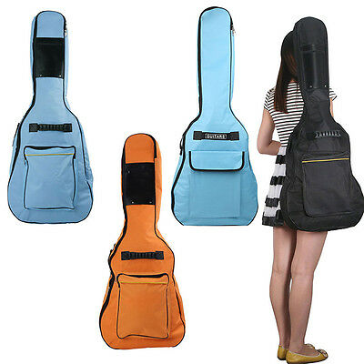 """41"""" Acoustic Guitar Double Straps Padded Guitar Soft Case Gig Carry Bag Backpack"""