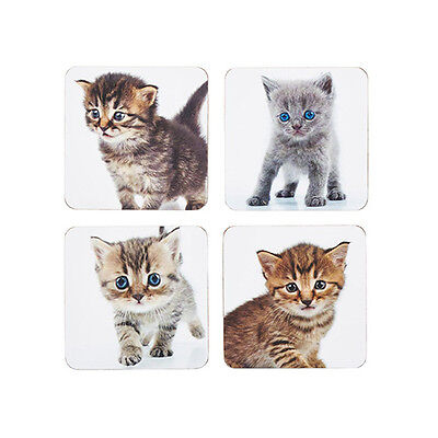 Kitchen Craft Kittcens Back Laminated Set of 4 Coasters