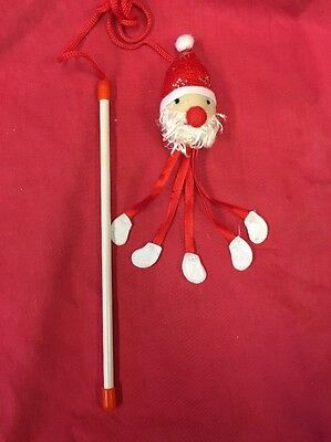Cat Kitten Toy Catnip Rattling Santa Father Christmas Xmas Dangler Interactive