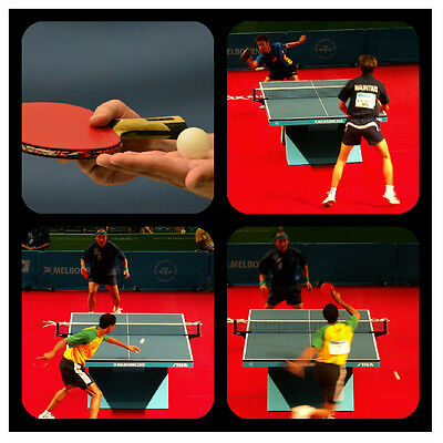 Table Tennis - Souvenir Novelty Coasters - Easy Clean - New - Gift/ Xmas / B/day