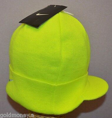 983bb4e3db7 NIKE UNISEX CREW Hat Volt Radar Knit Reflective Warm Running Beanie ...