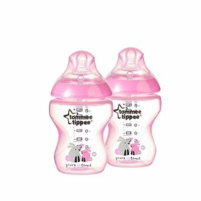 Tommee Tippee Bottles, Girls Deco, 9 Ounce, 2-Count New