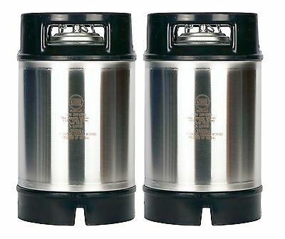 2.5 Gallon Ball Lock Kegs New Two Pack - Relief Valve - Homebrew Draft Beer Soda
