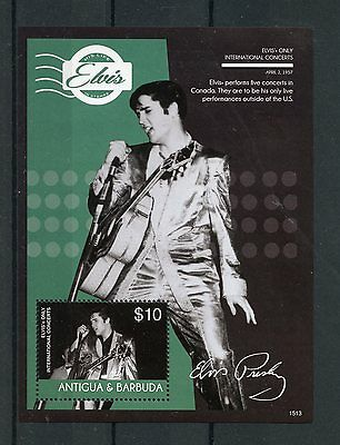 Antigua & Barbuda 2015 MNH Elvis Presley His Life in Stamps 1v S/S II Concerts