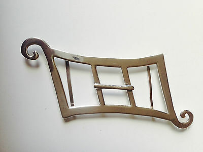 Antique Solid Silver personalized Belt Buckle Beautiful shape