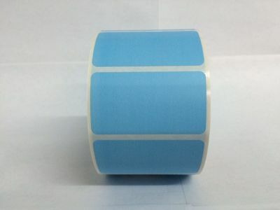 1000 Labels BLUE  2.25x1.25 Direct Thermal REMOVABLE Zebra LP2824 LP2844