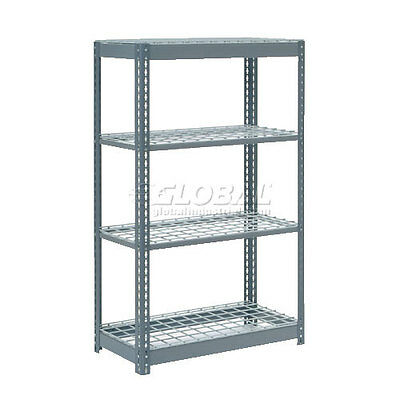 "Heavy Duty Shelving 36""W x 24""D x 72""H With 4 Shelves, Wire Deck"