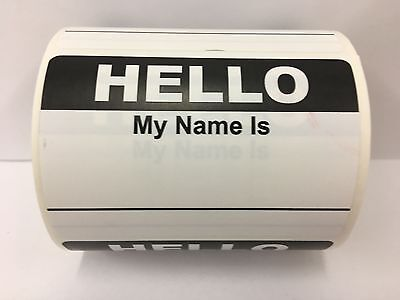 50 Labels 2 3 8x3 1 2 Pink Hello My Name Is Name Tag Identification