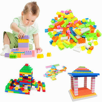 New 144pcs Plastic Building Blocks Kids Toy Children Puzzle Educational Toy Gift