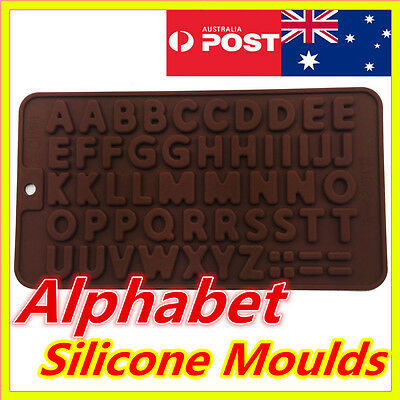 Alphabet Letters Silicone Ice Chocolate Jelly Cube Tray Cake Pop Soap Mould Mold