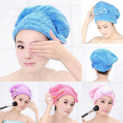 Newly Textile Useful Dry Microfiber Turban Quick Hair Hats  Wrapp Towels Bathing