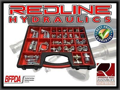 Redline Hydraulics Onsite Hydraulic Hose Repair Kit With Case