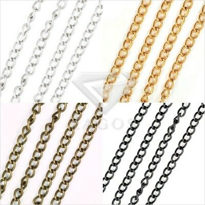 4m//13.12 feet Unfinished Chains Necklace DIY Antique Brass Rollo Chain 3x3mm