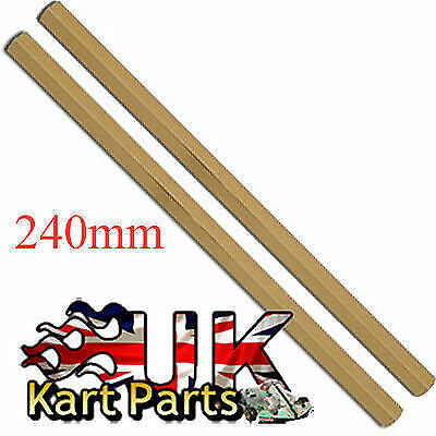 KART Pair of M8 x 240mm Gold Hexagonal Alloy Track Rods High Quality Best Price