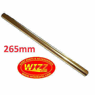 M8 x 265mm Gold Alloy Round Track Rod High Quality FREE POSTAGE WIZZ KARTS