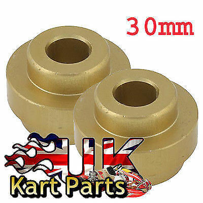 KART Pair of Large Gold 30mm Bumper Alloy Fixing Bush Fast Delivery Best Price