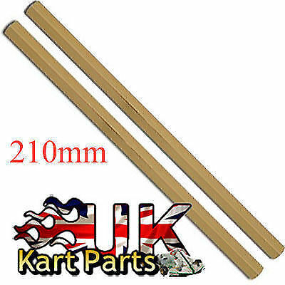 KART Pair of M8 x 210mm Gold Hexagonal Alloy Track Rods High Quality Best Price