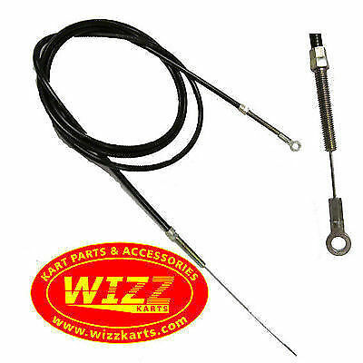 Premium Quality Complete Eye Type Throttle Cable with 2 Adjustors WIZZ KARTS