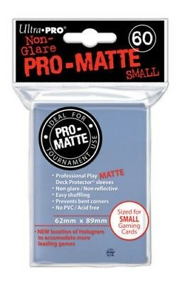 Ultra Pro Deck Protector Sleeves x60 - Pro Matte Non-Glare - Small Clear Yugioh