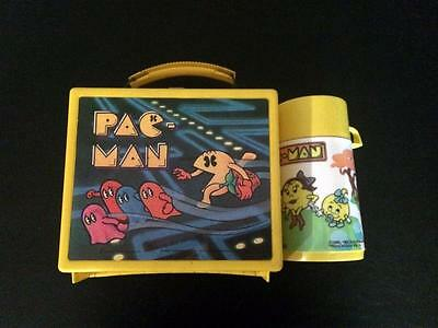 Pacman Lunchbox 1980- With Thermos- Free Shipping