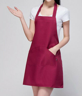 Multi-color  Solid Kitchen Apron With Front Pocket For Cooking & Baking