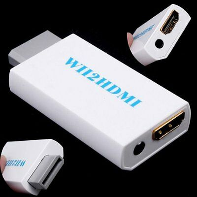 White Wii to HDMI Converter 480P 3.5mm Audio Converter Adapter Box Wii-link BTUK