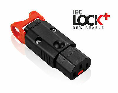 Power Lock Locking IEC C13 Female 10A  Rewireable Appliance Connector Low Smoke