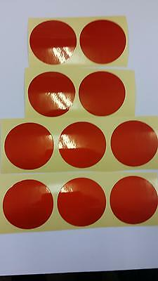 """20 x Reflective Adhesive circles 2"""" Crafts, Vehicles, Hazards, Signs 5 Colours"""
