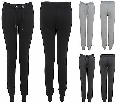 New Womens Ladies Skinny Jogging Tracksuit Gym Joggers Warm Bottoms Trousers