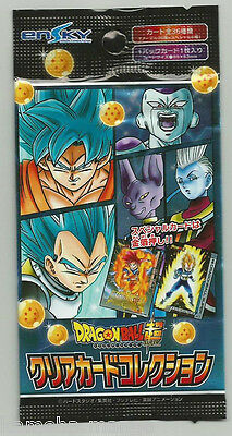 Carte Dragon ball Z GT Super Clear Card Collection CARDDASS ENSKY BOOSTER