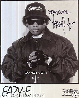 "Eazy-E from NWA N.W.A. Reprint Signed 8x10"" Photo Straight Outta Compton RP"