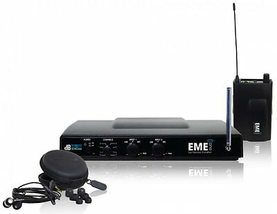 Db Technologies Eme One In Ear Monitor completo di auricolari wireless