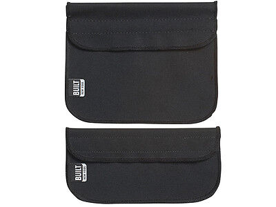 Set of 2 BUILT NY BLACK Neoprene Sandwich & Snack Sleeve LUNCH BAGS