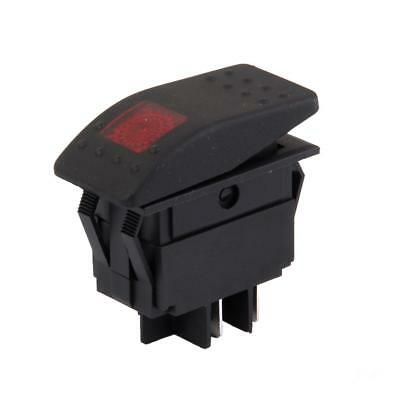 DC 12V Interruttore A Bilanciere ON / OFF LIGHT SWITCH LED ROSSO PER AUTO