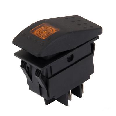 DC 12V Interruttore A Bilanciere ON / OFF LIGHT SWITCH LED GIALLO PER AUTO