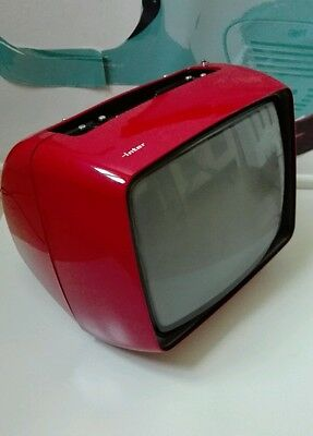 ANTIGUO VINTAGE ANTIQUE RETRO TELEVISION INTER  TV 70er 60er POP