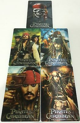 Japan Import - Set of 5 PIRATES of the CARIBBEAN DISNEY CARDS