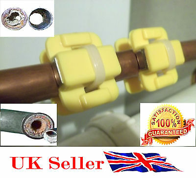 NEW Magnetic Water Softener Conditioner Limescale Remover DIY x 2 PAIR UK